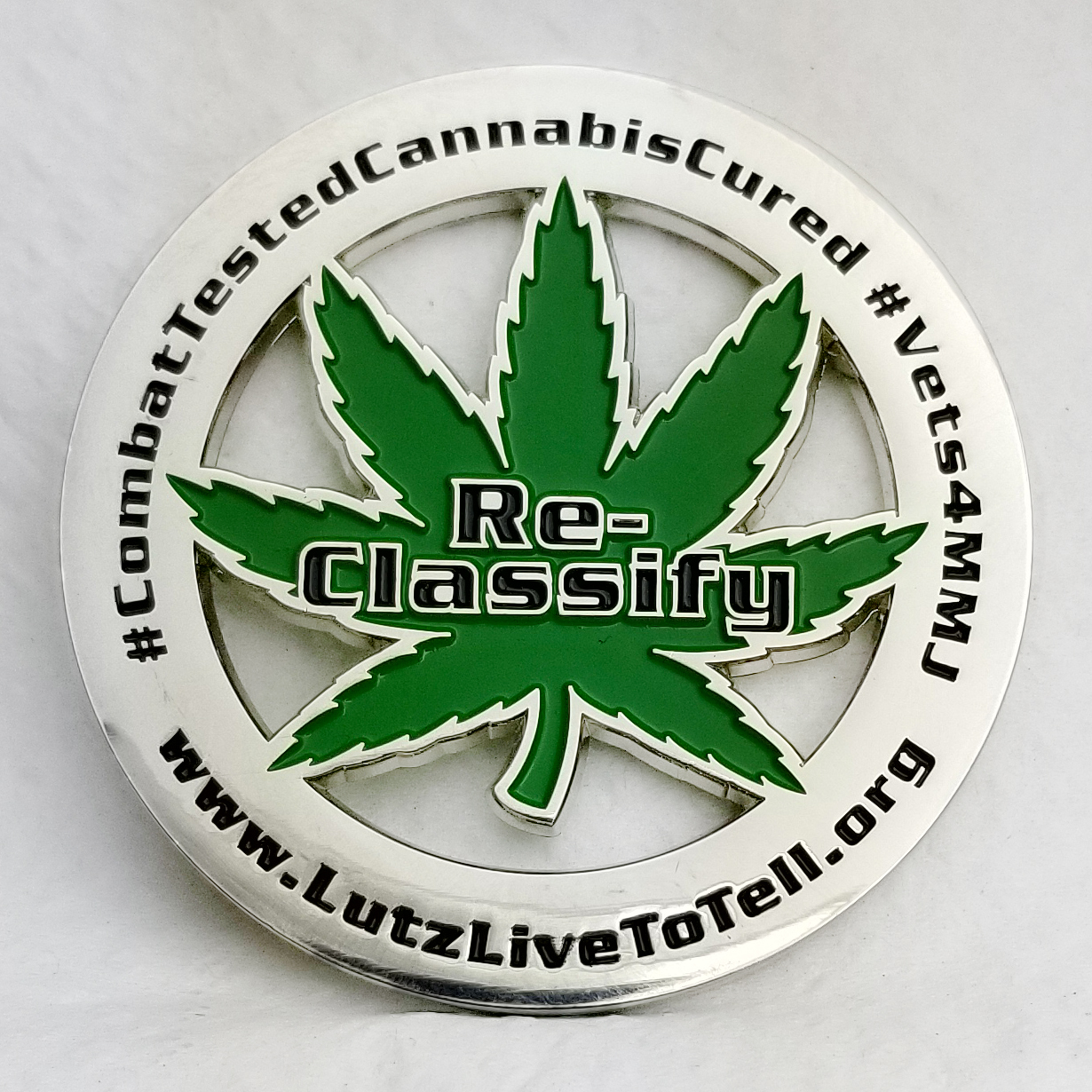 Reclassify Cannabis Challenge Coin